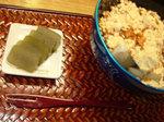虎屋の緑茶羊羹と正庵のくず餅