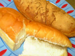 黄金ぱん(きなこ揚げパン)とバタークリームサンド