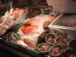 店内の鮮魚ケース