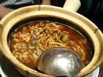 高菜と豚肉の煮込み麺