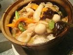 海老・イカ・豚肉五目野菜の土鍋ご飯
