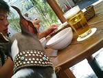 今日の生ビールはハイネケン〜♪