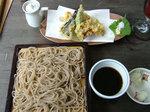 季節の野菜天ぷら、せいろ蕎麦