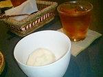 桃のソルベ、お茶