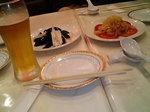 前菜のクラゲ&ピータン