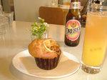 ドレハー、レモンクリームチーズマフィン、アイスオレンジオレンジティー