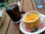 アイスコーヒーとオレンジブランデーのフラン