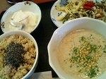 ゴボウのポタージュスープ定食