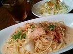 キムチ明太クリームのスパゲッティ
