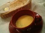 自家製パンとポロねぎのなめらかスープ
